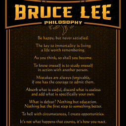 Bruce Lee Philosophy 10 Quotes A3 2021