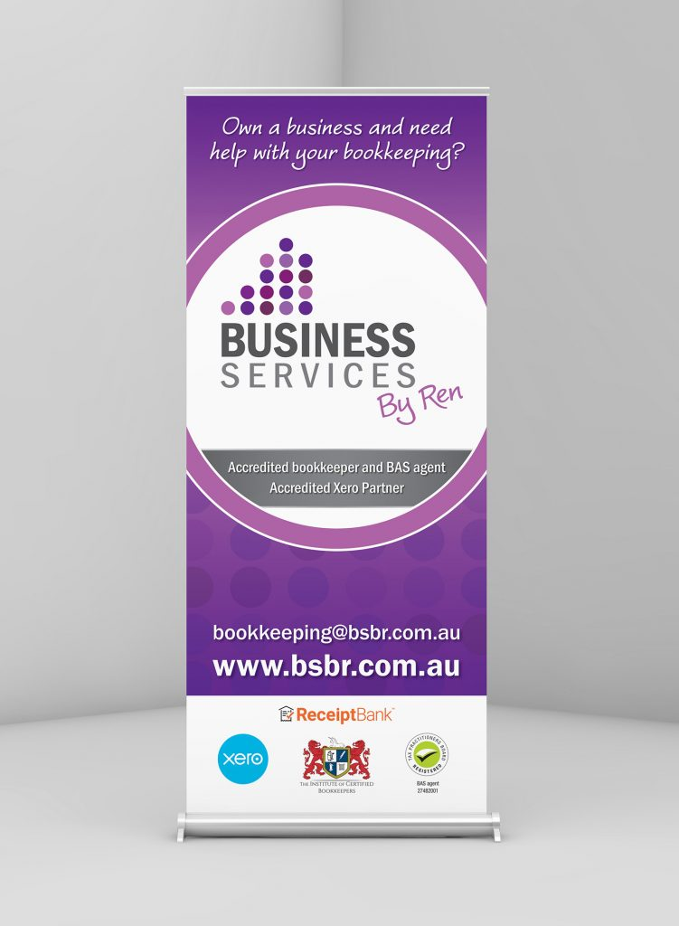 Pull up banner design for Business services by Ren